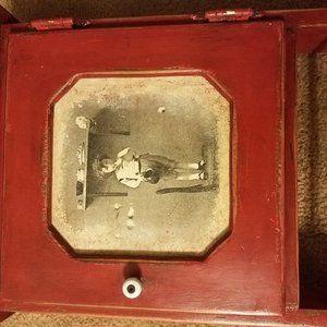 Cute  Red Vintage Cupboard
